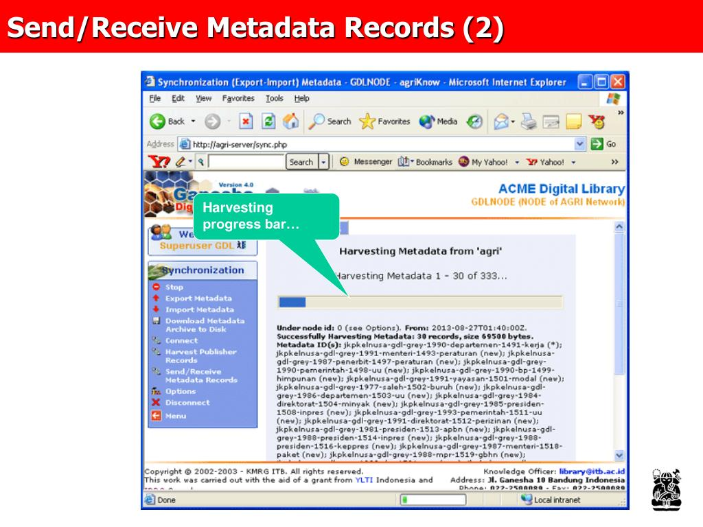 Send/Receive Metadata Records (2)