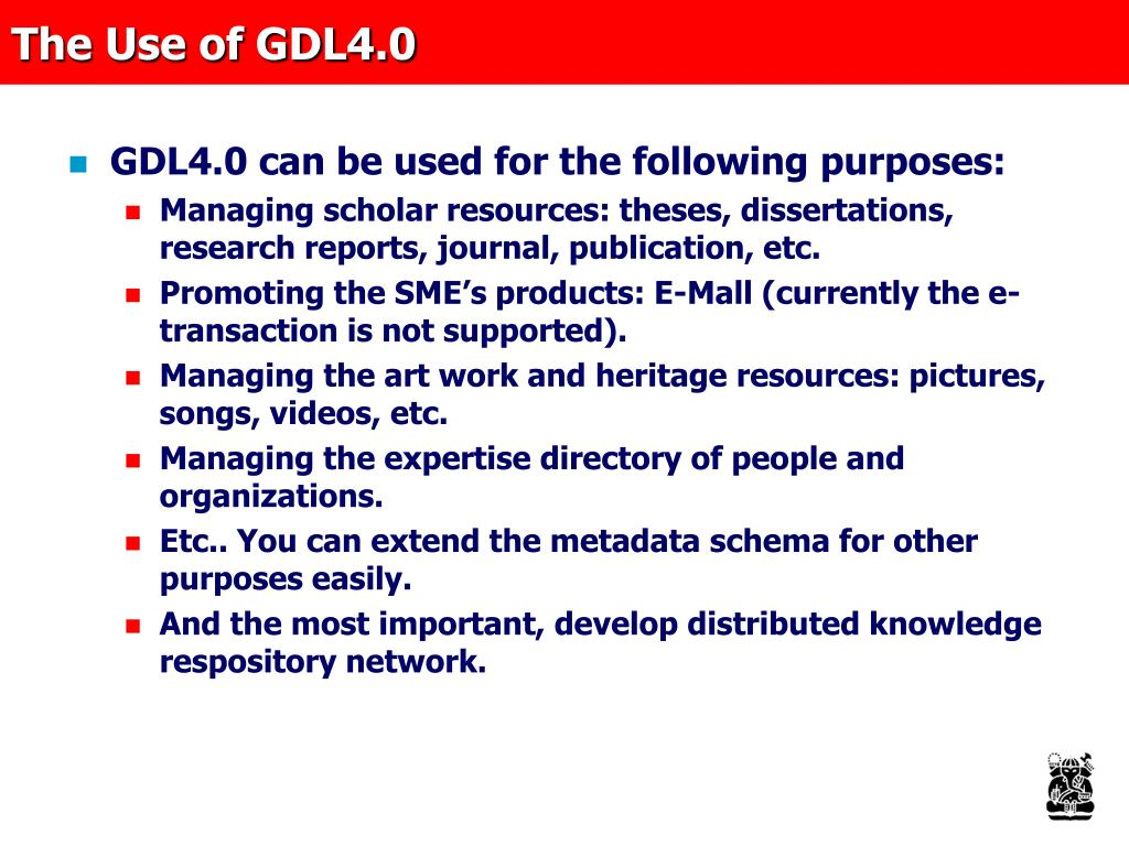 The Use of GDL4.0
