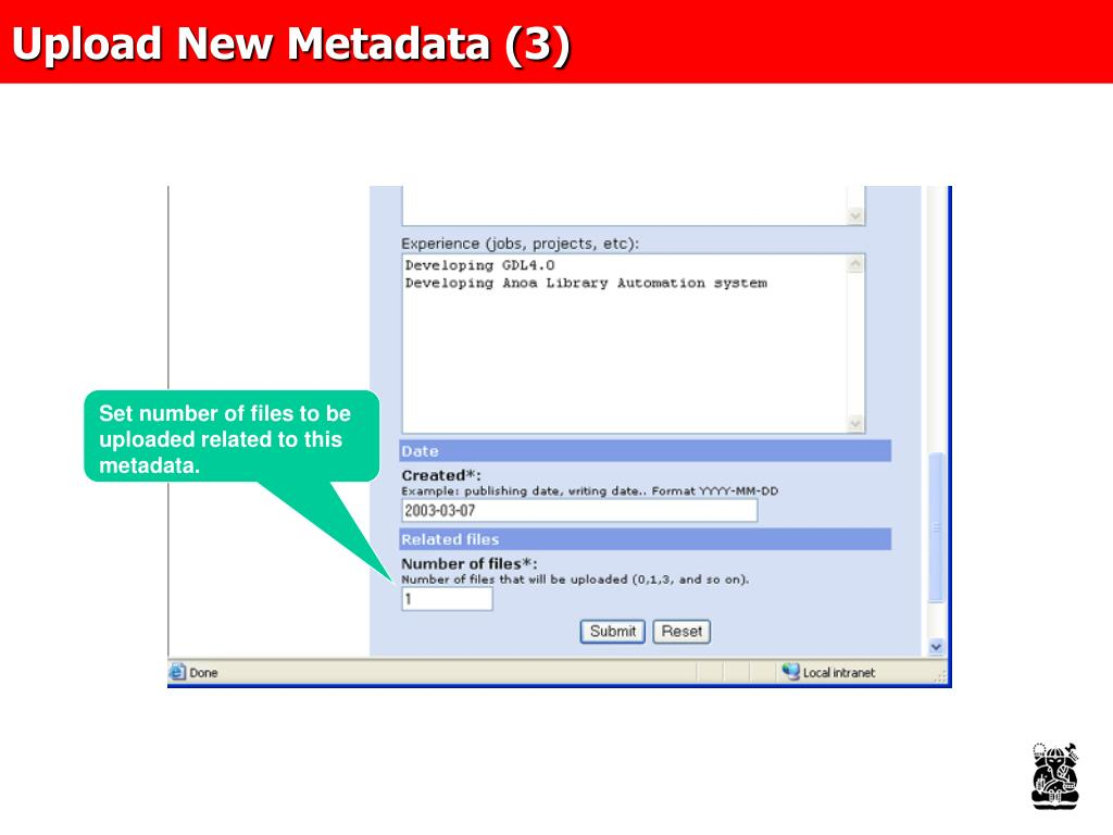 Upload New Metadata (3)