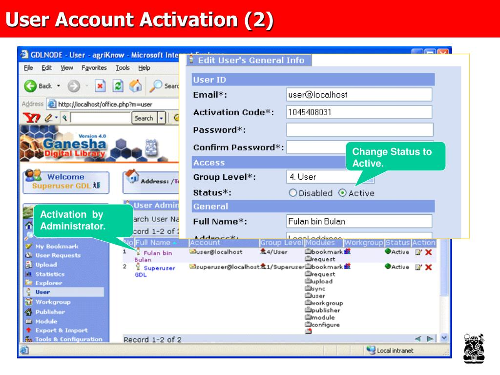 User Account Activation (2)