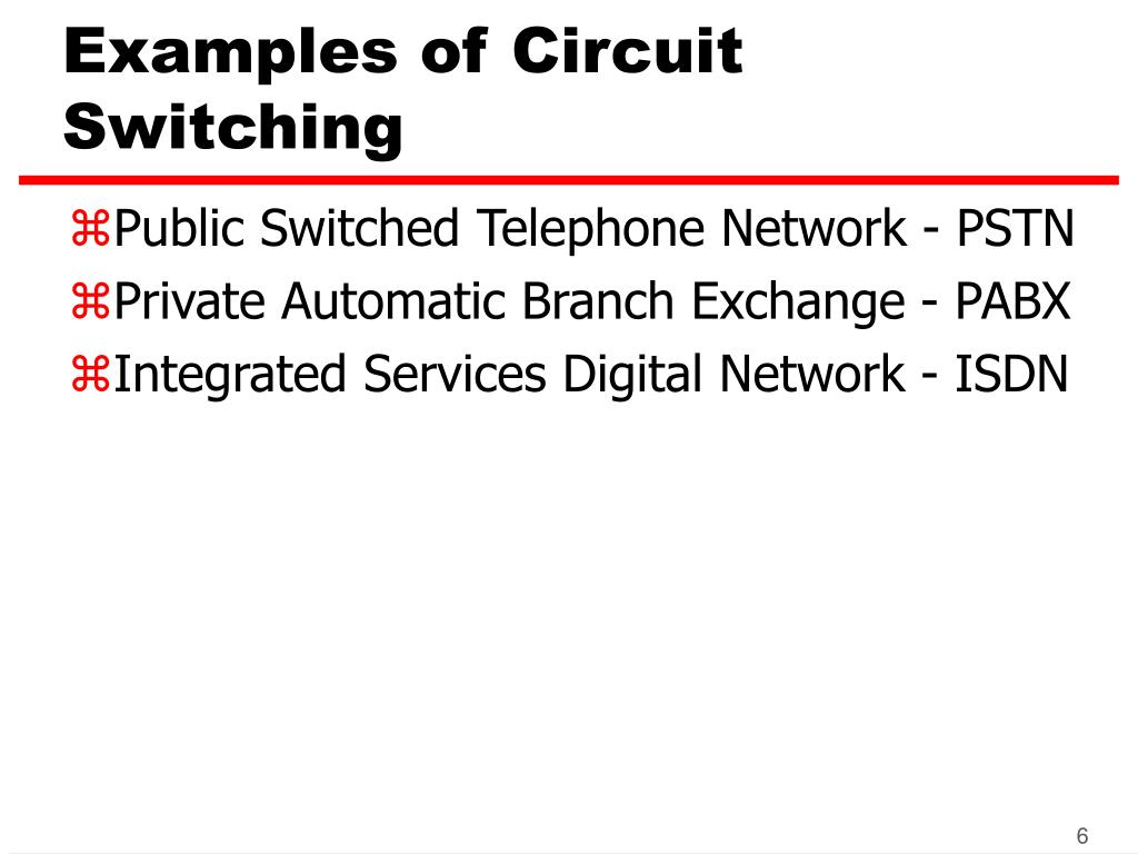 Examples of Circuit Switching