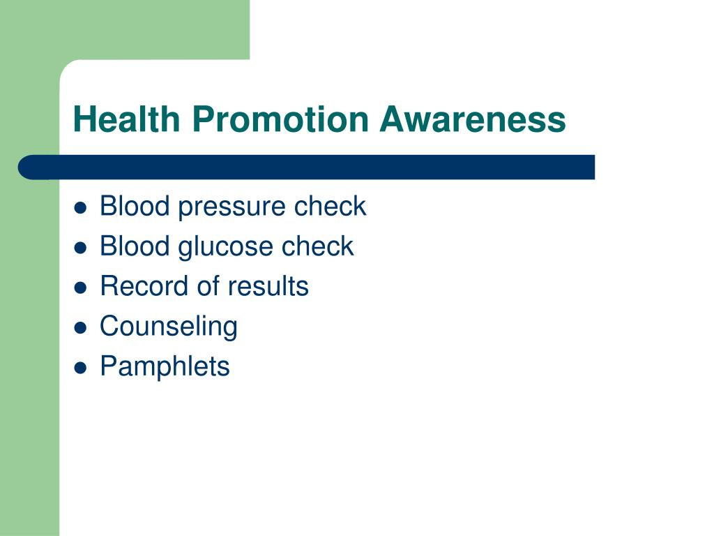 Health Promotion Awareness