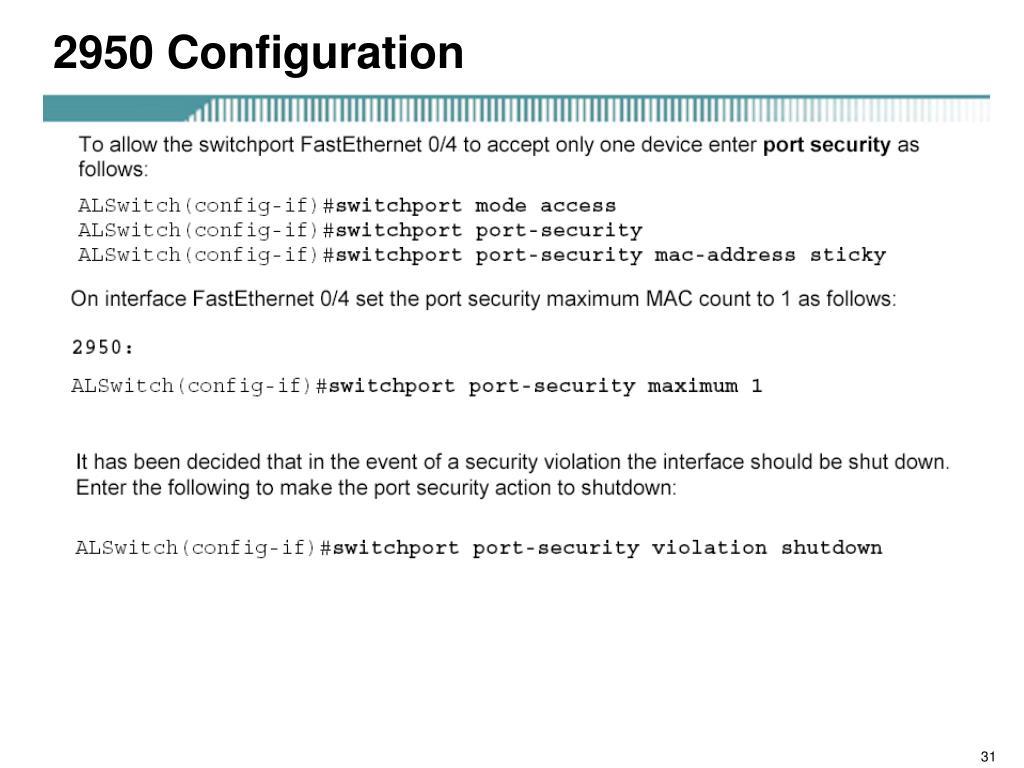2950 Configuration