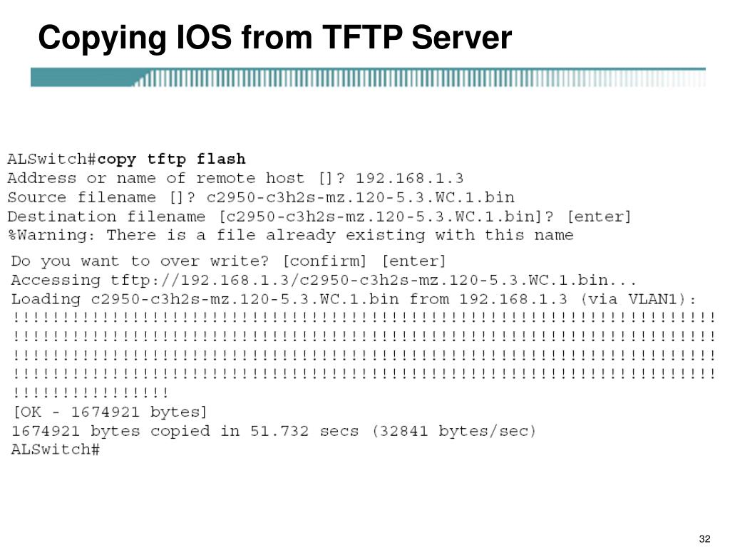 Copying IOS from TFTP Server