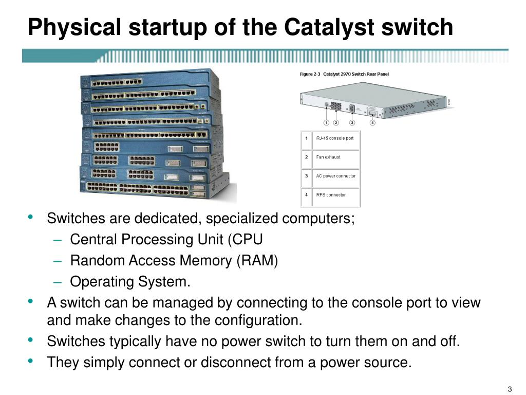 Physical startup of the Catalyst switch