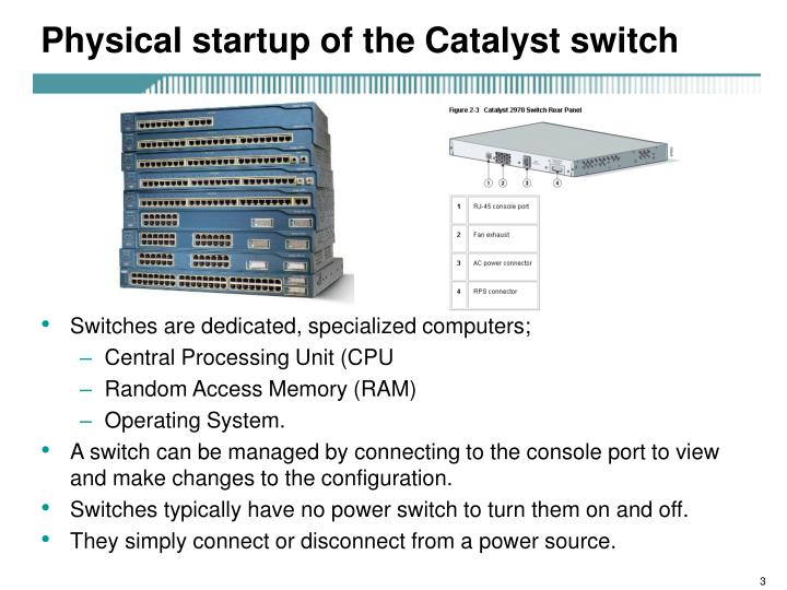 Physical startup of the catalyst switch l.jpg