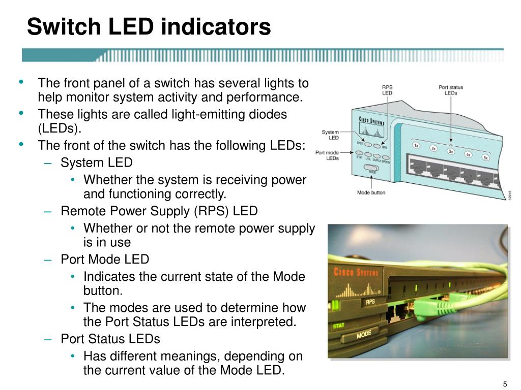 Switch LED indicators