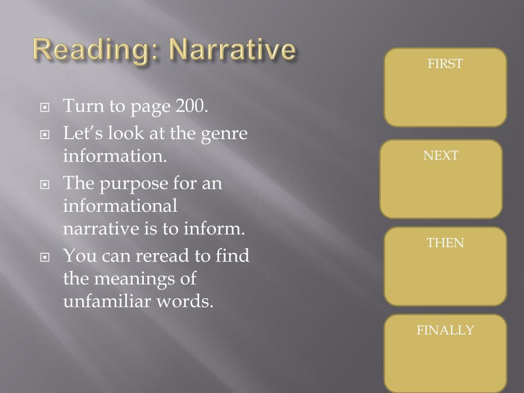 Reading: Narrative