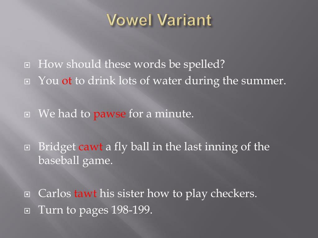 Vowel Variant