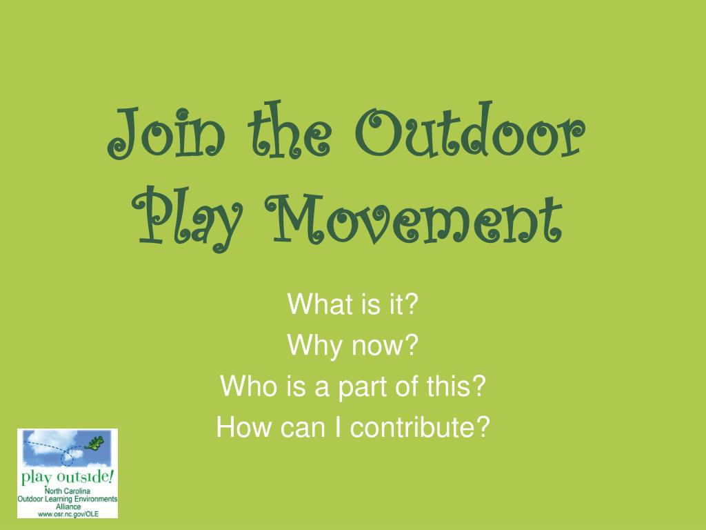 Join the Outdoor Play Movement