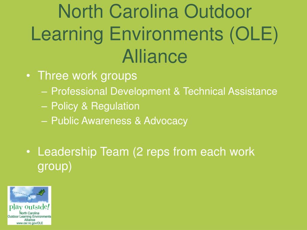 North Carolina Outdoor Learning Environments (OLE) Alliance