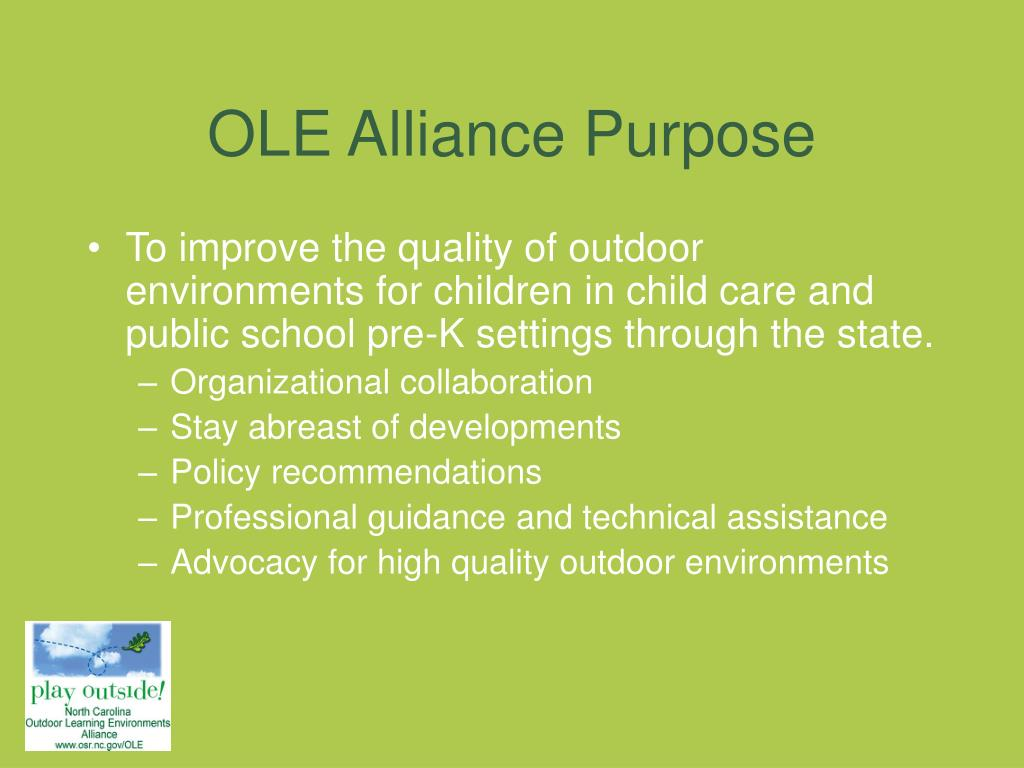 OLE Alliance Purpose