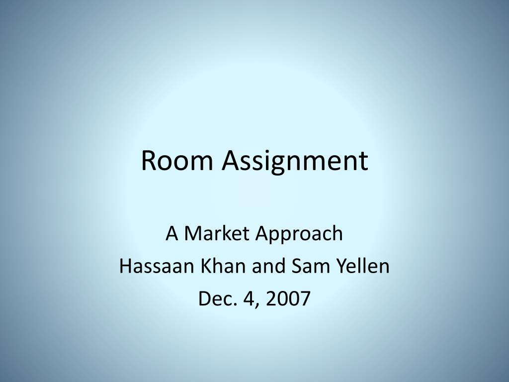 Room Assignment