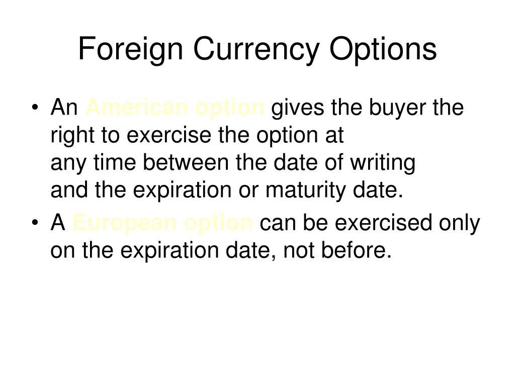Philadelphia stock exchange currency options