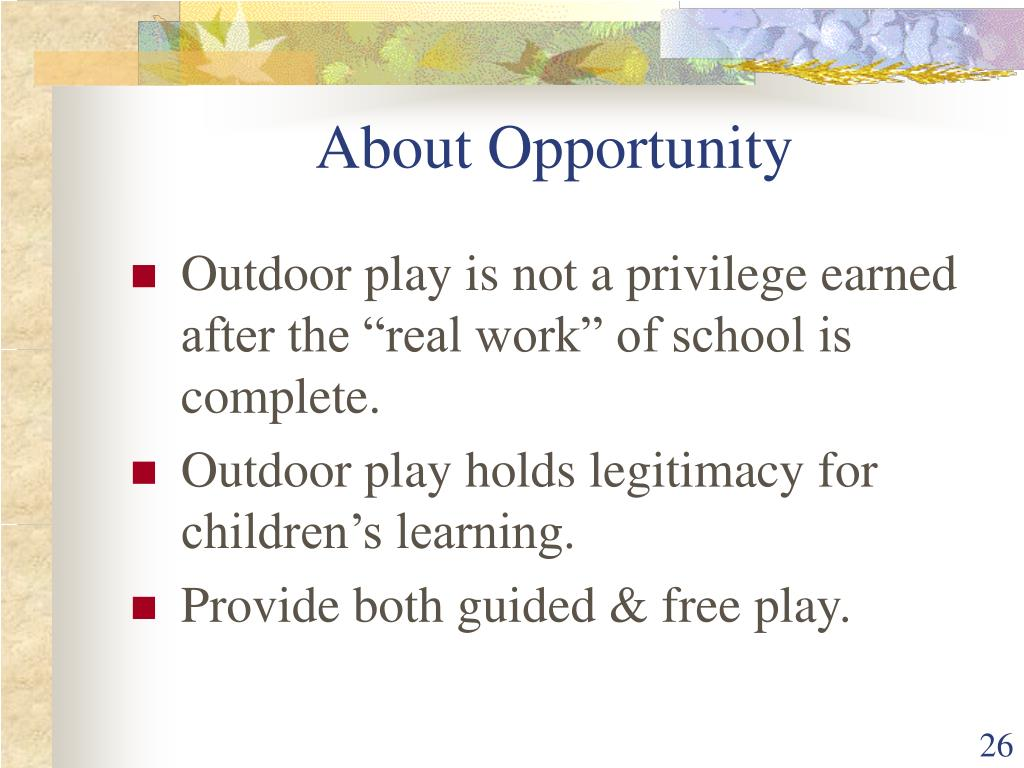 About Opportunity