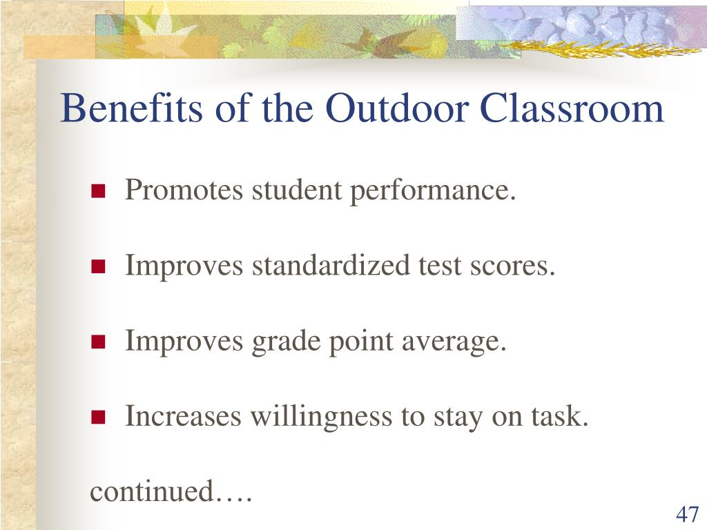 Benefits of the Outdoor Classroom