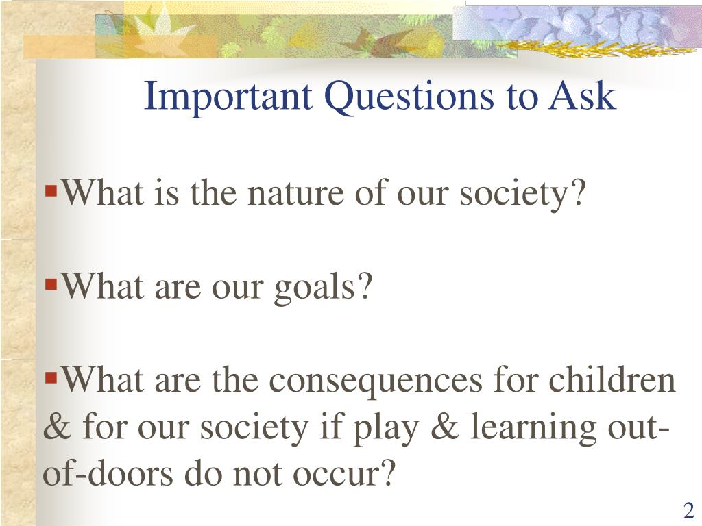 What is the nature of our society?