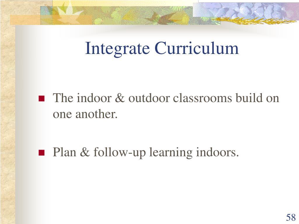 Integrate Curriculum
