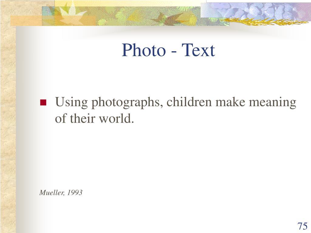 Photo - Text