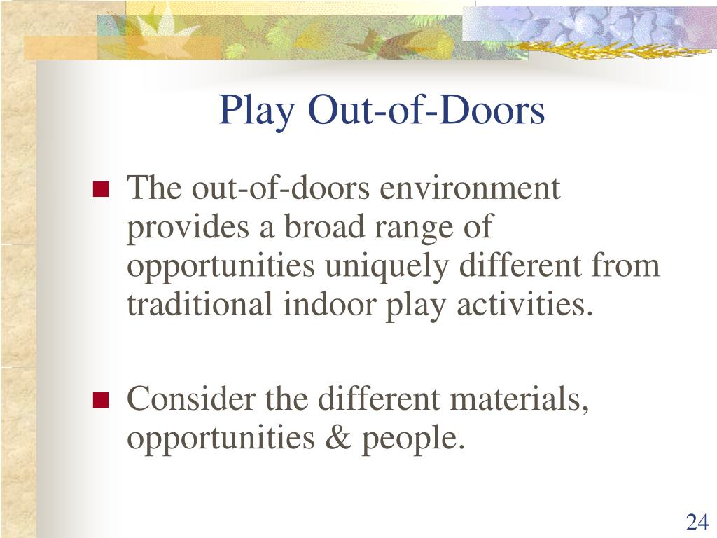Play Out-of-Doors