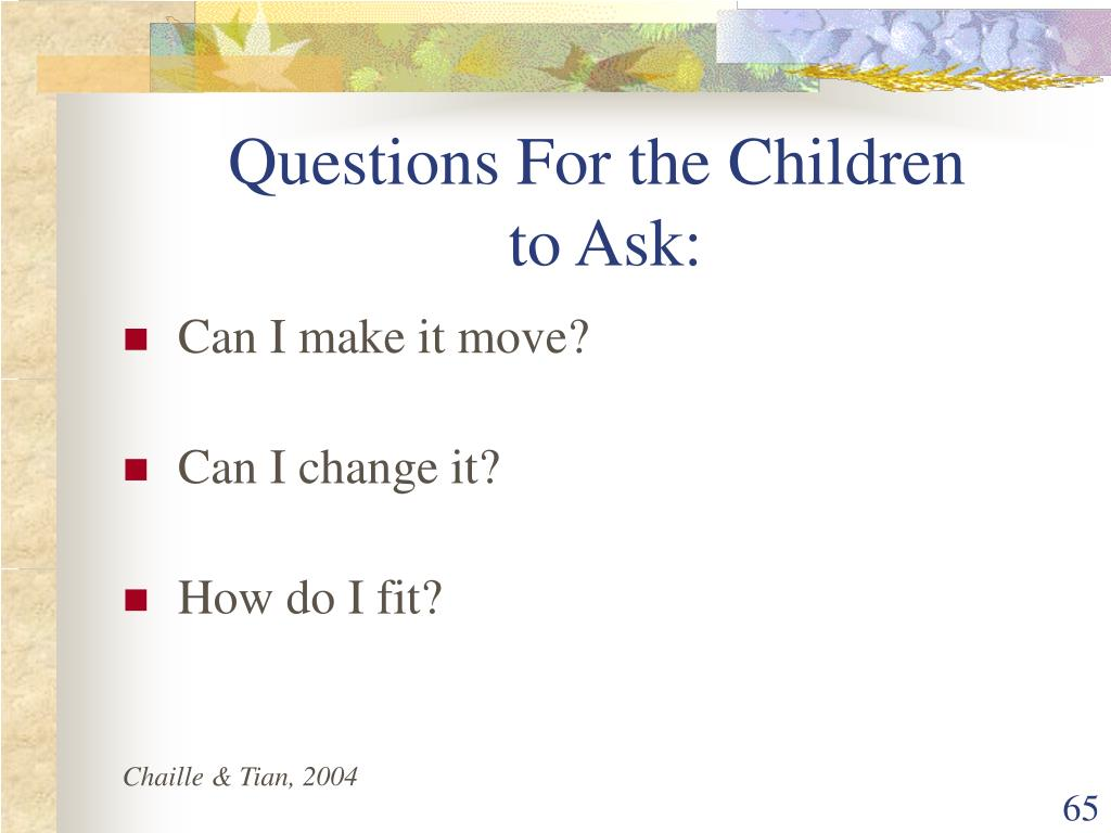 Questions For the Children