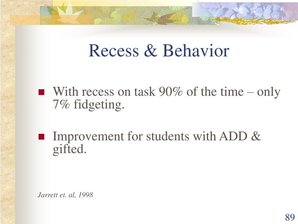 Recess & Behavior