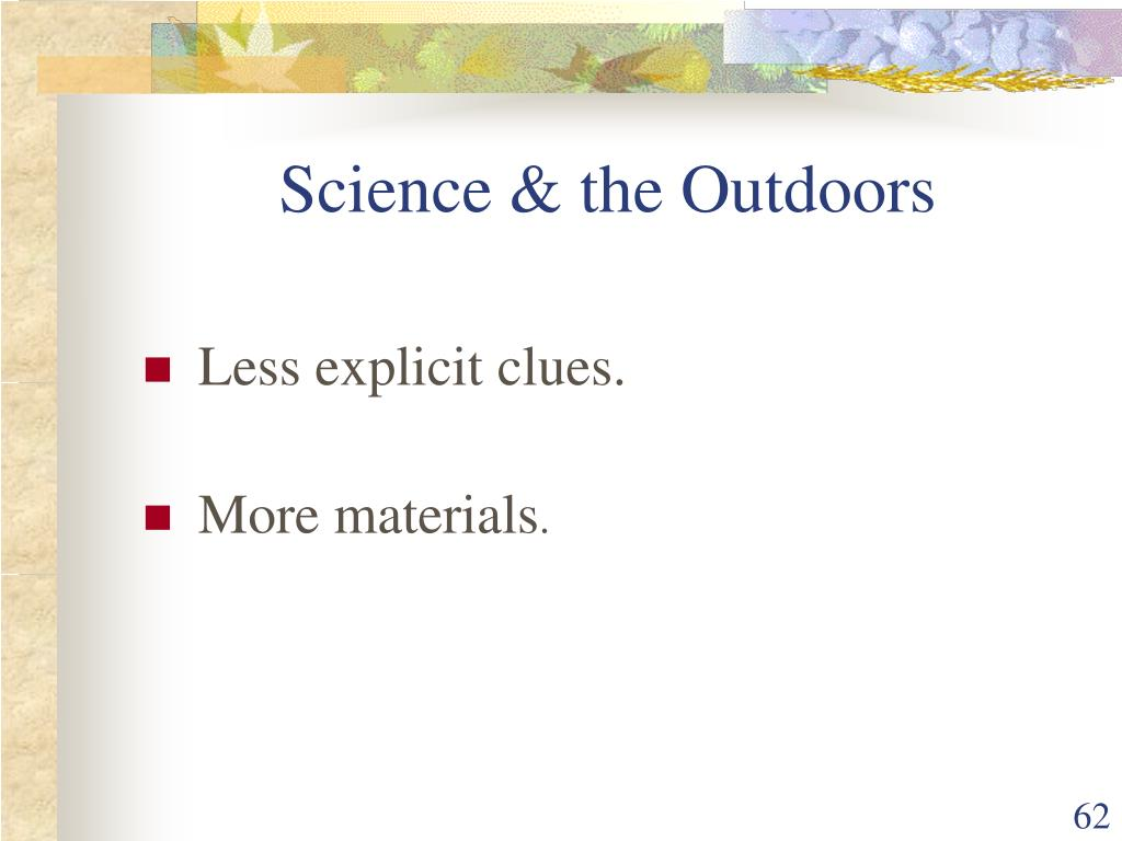 Science & the Outdoors
