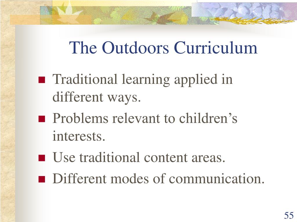 The Outdoors Curriculum