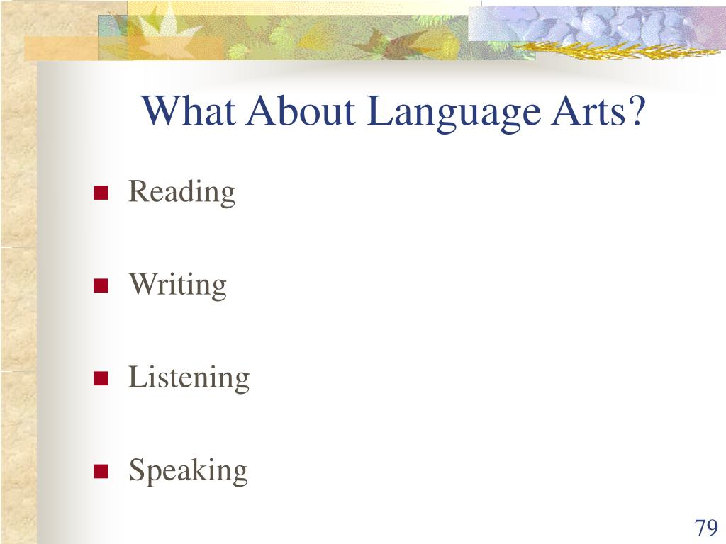 What About Language Arts?