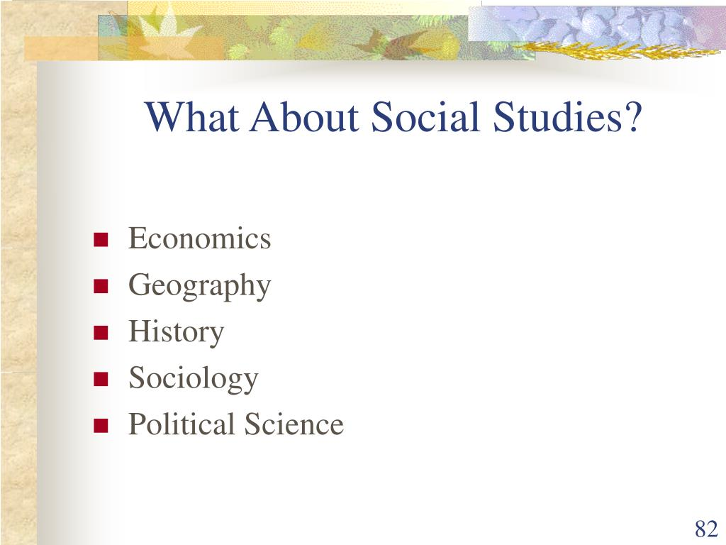 What About Social Studies?