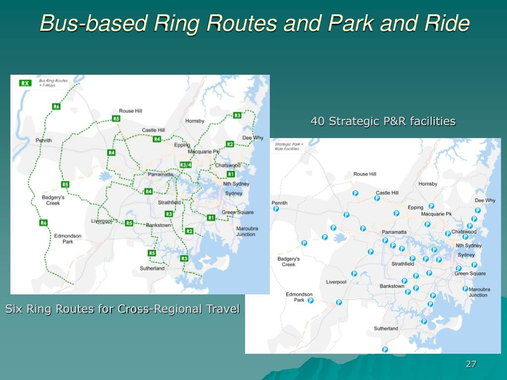 Bus-based Ring Routes and Park and Ride