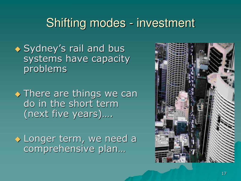 Shifting modes - investment
