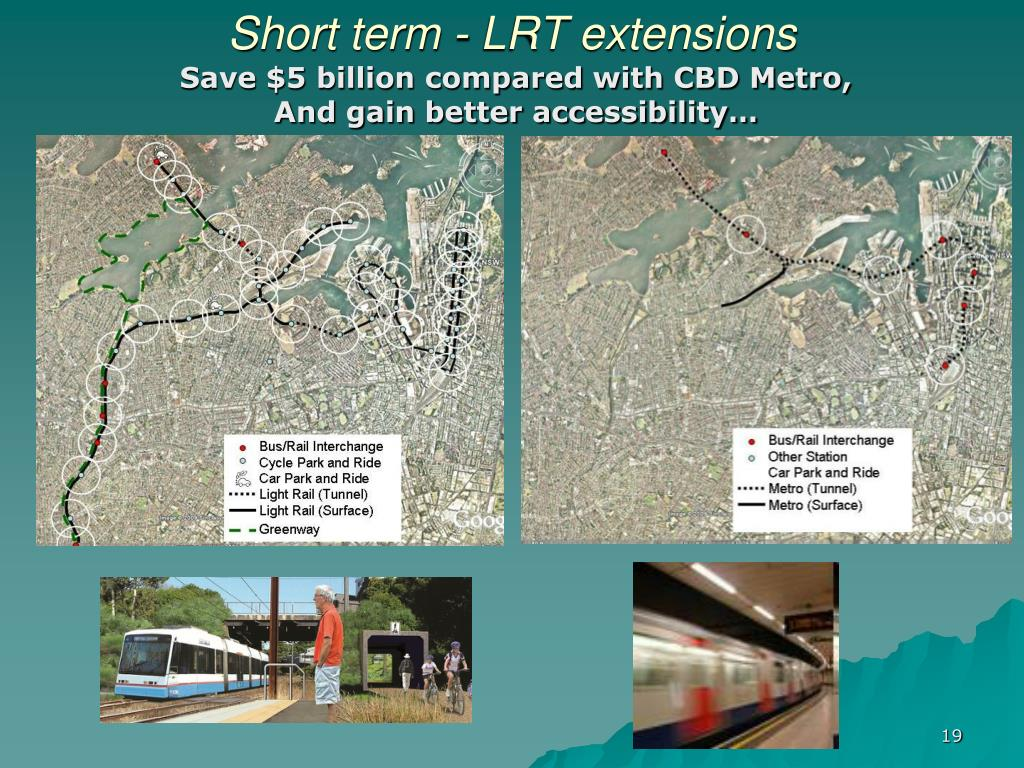 Short term - LRT extensions