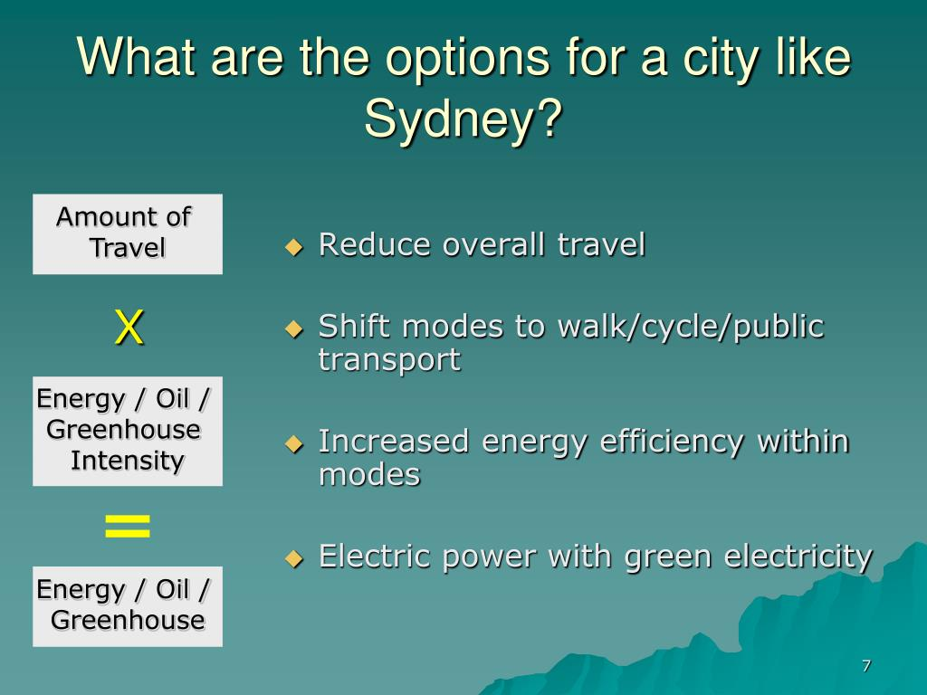 What are the options for a city like Sydney?