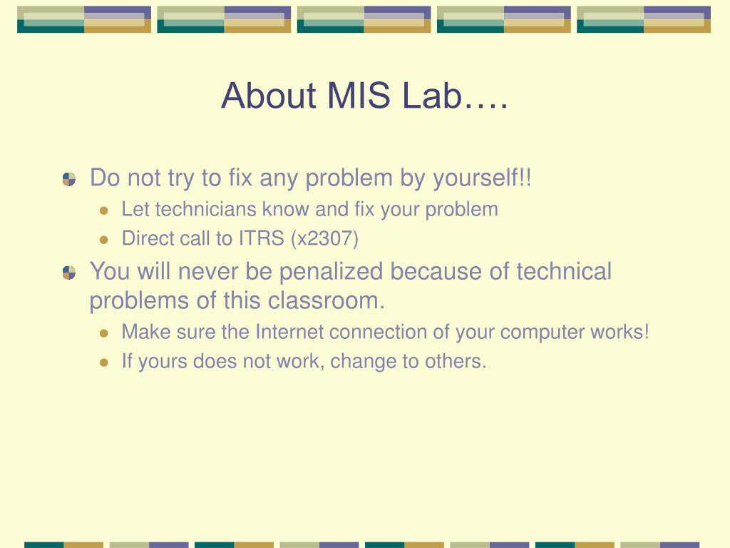 About MIS Lab….