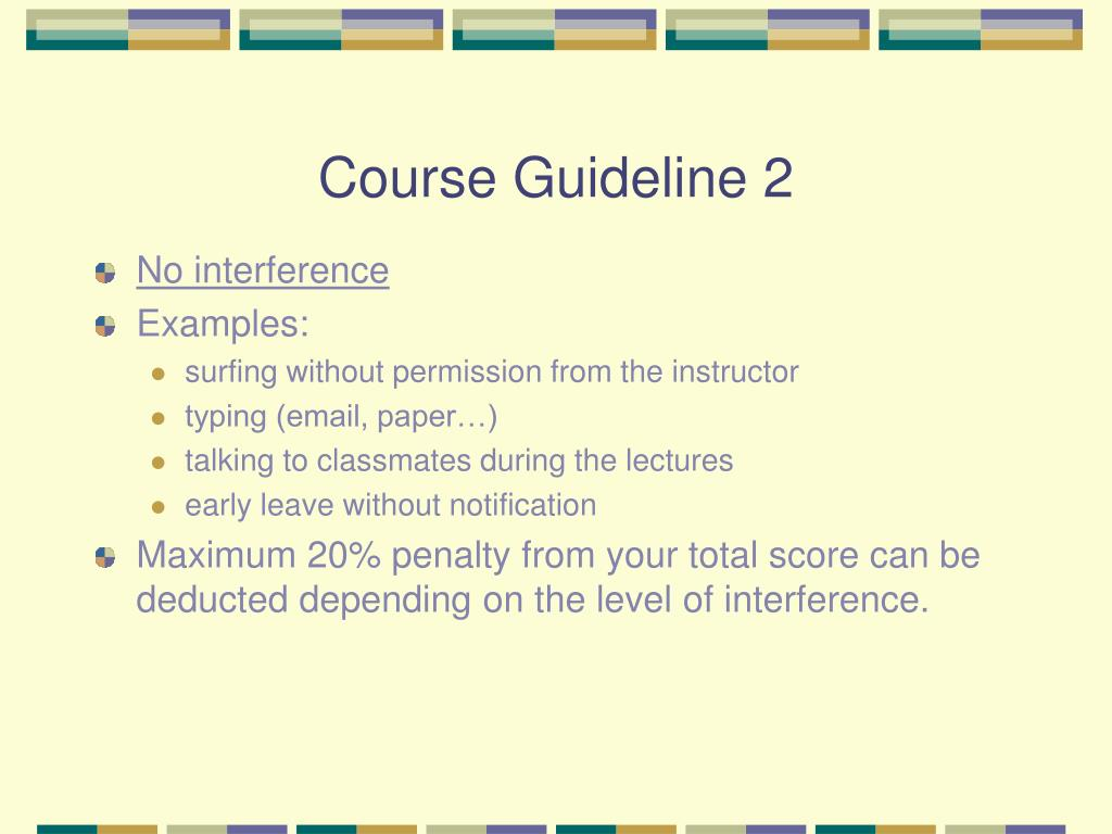 Course Guideline 2