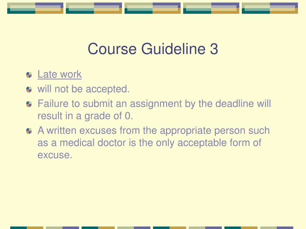 Course Guideline 3