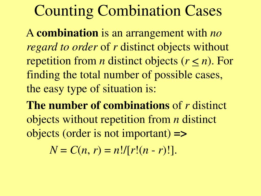 Counting Combination Cases