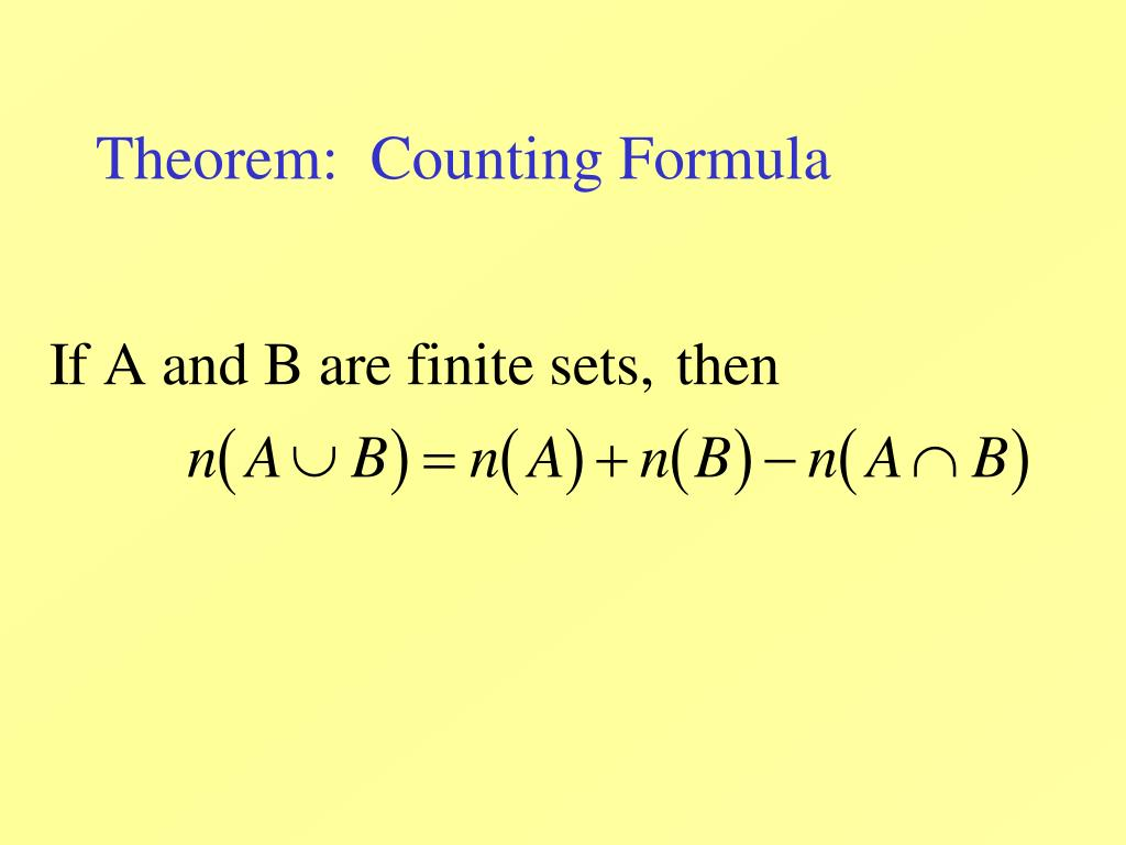 Theorem:  Counting Formula