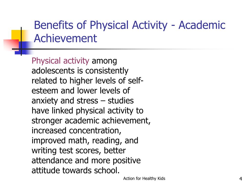 Benefits of Physical Activity - Academic Achievement