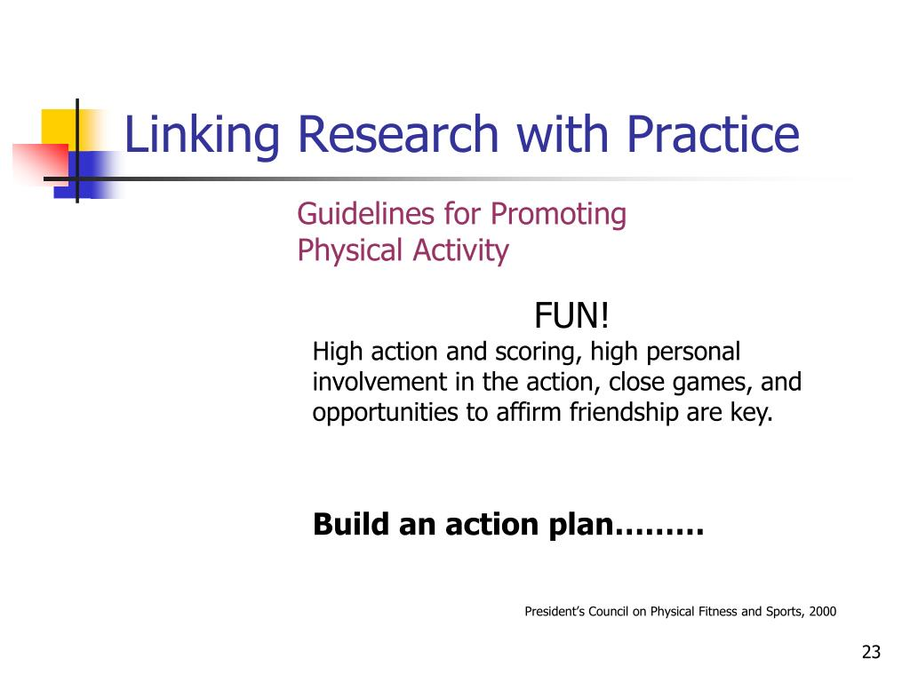 Linking Research with Practice