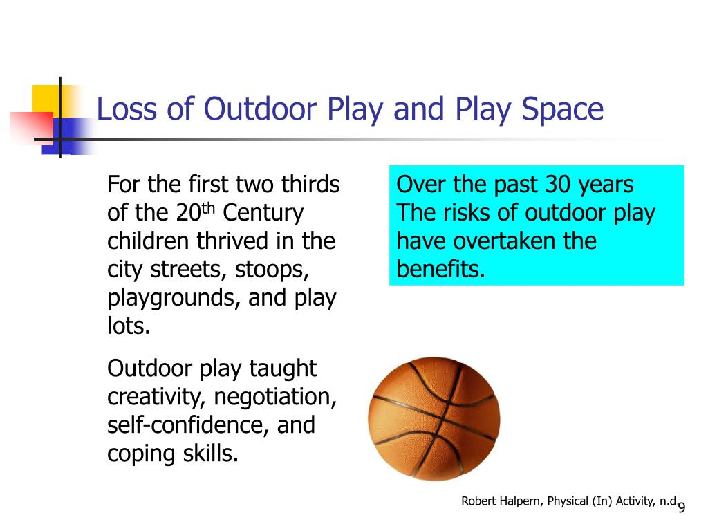 Loss of Outdoor Play and Play Space