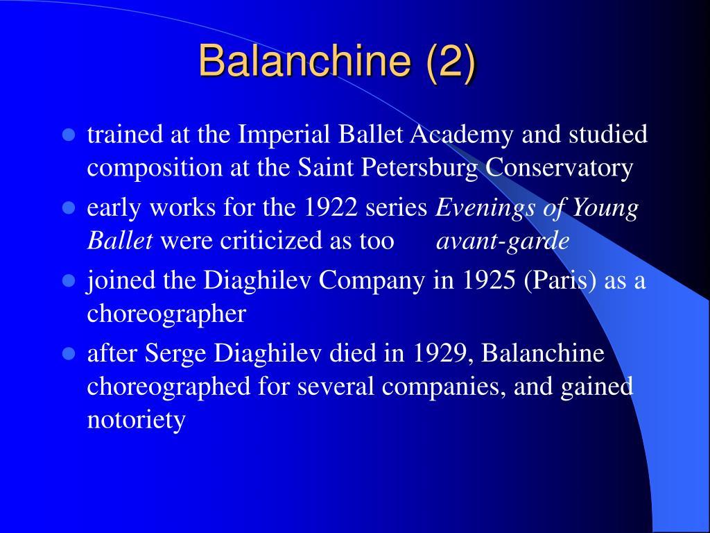 Balanchine (2)