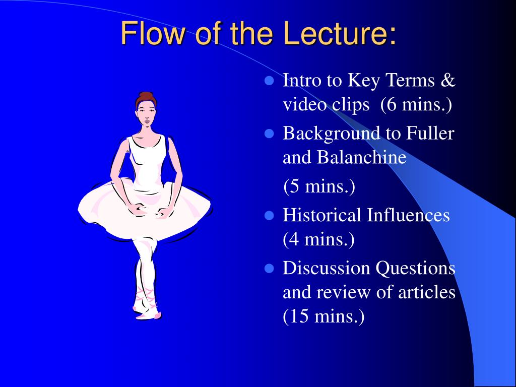 Flow of the Lecture: