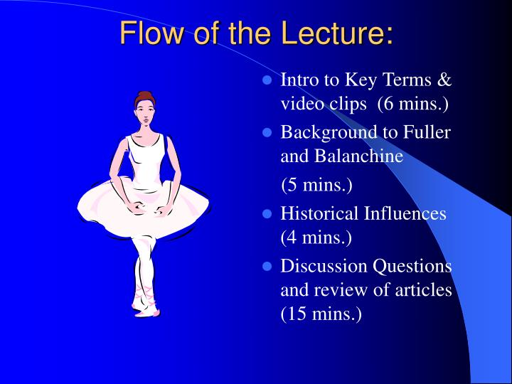 Flow of the lecture