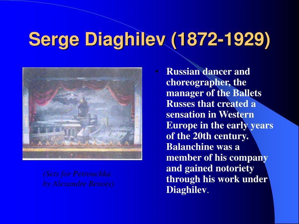 Serge Diaghilev (1872-1929)
