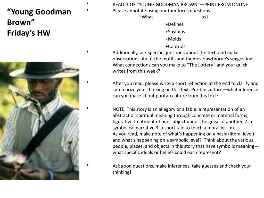 english young goodman brown group questions