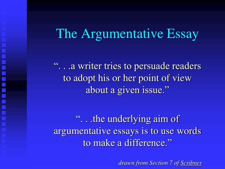 agruementative essay for the use of