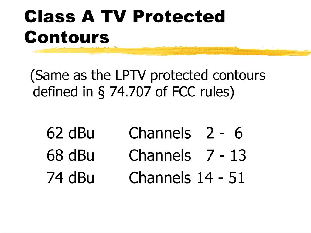 Class A TV Protected Contours