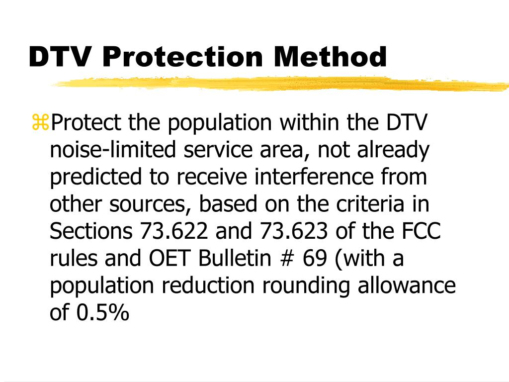 DTV Protection Method